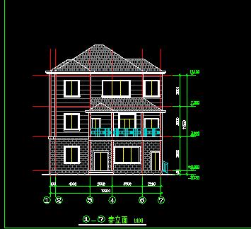 三层农村住宅楼设计图免费下载 - 别墅图纸 - 土木图片