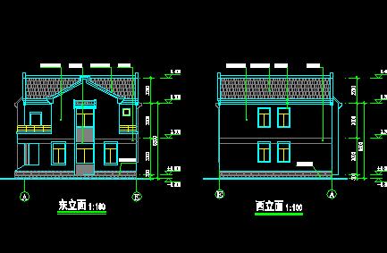 新农村两层别墅设计图免费下载 别墅图纸图片