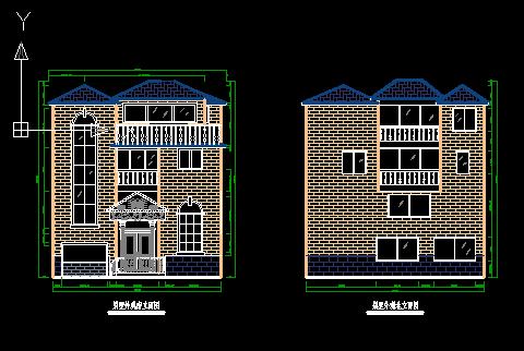 三层乡村别墅设计图纸免费下载 - 别墅图纸 - 土木