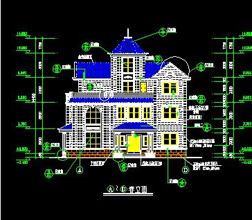192平米三层独栋别墅设计图