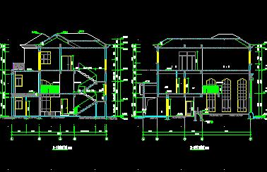 191平米三层独栋别墅设计图