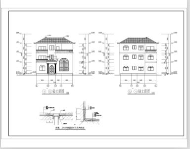 150平米三层单家独院式别墅设计图