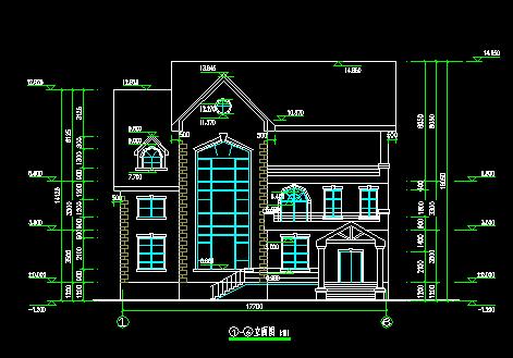 三层别墅建筑设计图纸免费下载 别墅图纸