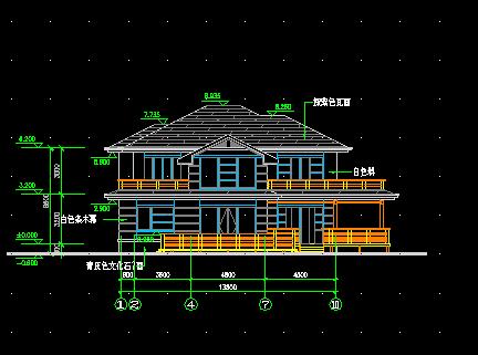 二层别墅建筑设计图纸免费下载