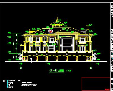 三层欧式别墅建筑设计图