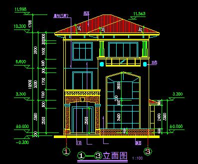 三层别墅建筑设计图免费下载 - 别墅图纸 - 土木工程网