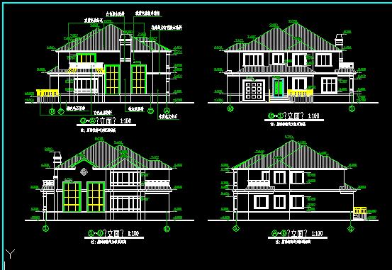 二层农村别墅设计图纸免费下载