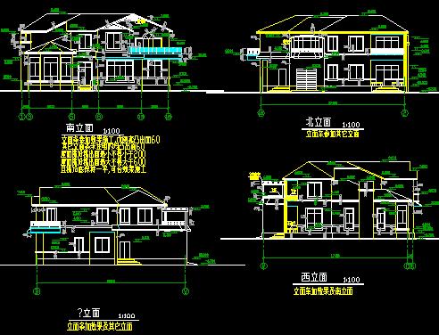 289平方米二层别墅建筑施工图纸