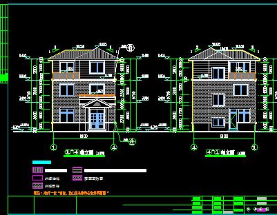 80平方米三层别墅建筑施工图纸