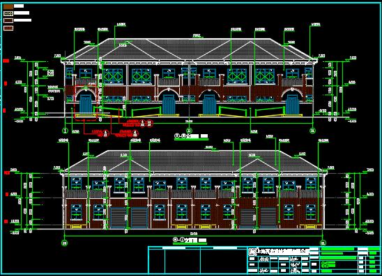 二层联排别墅施工图纸
