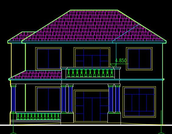 两层别墅建筑结构施工图纸