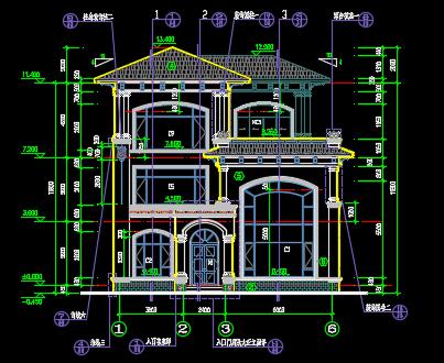 单体三层别墅施工图纸