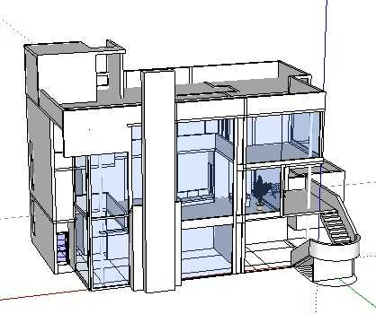 某住宅草图及建筑模型免费下载