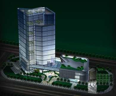 某大型辦公樓建筑方案設計文本