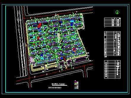 小区的总平面规划高清图片