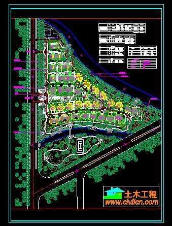 绍兴某高档小区总平面图