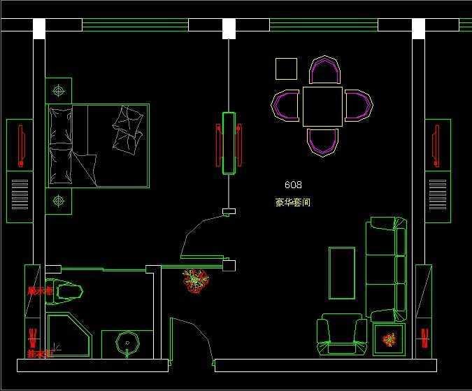 宾馆装修设计施工图纸高清图片