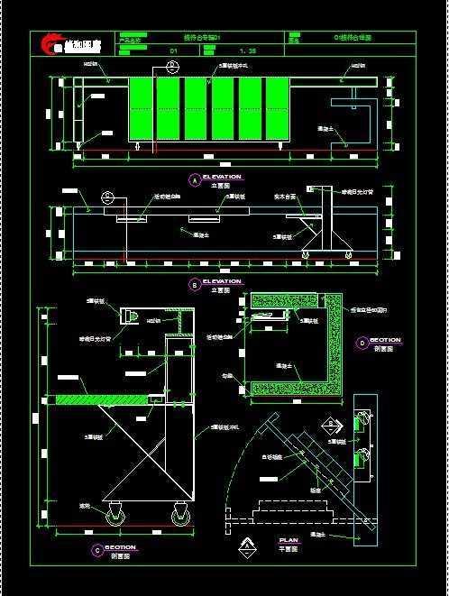 前台的CAD施工图免费下载 建筑规划图