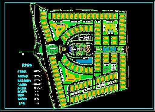 居住小区总平面布置图高清图片
