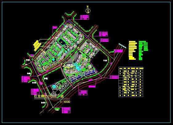 某小区规划总平面图