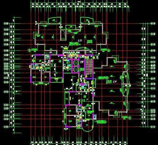 天正电气软件下载_某高层住宅平面图免费下载 - 建筑规划图 - 土木工程网