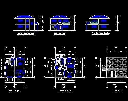 两层小别墅设计图免费下载