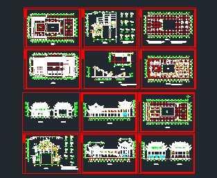 岭南古建筑戏台祠堂设计图研发设计合理图纸的部门图片
