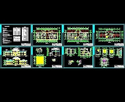 某卫生院三层综合楼建筑施工图 含效果图高清图片