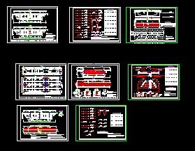 三跨连续梁桥v管线管线免费下载符号图纸工程图纸图片
