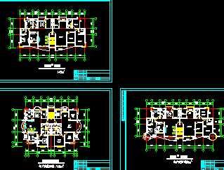 某多层住宅户型平面图免费下载 建筑规划图