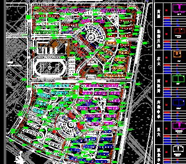 居住小区规划平面图