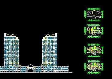 某小高层住宅平面设计图