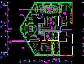 某酒店总统套房平面设计图免费下载 建筑规划图
