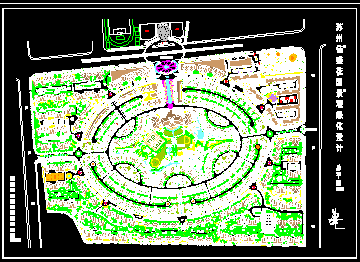 花园景观绿化设计总平面图免费下载