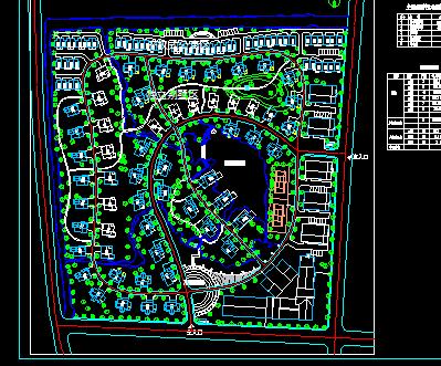 某别墅小区总体规划平面图