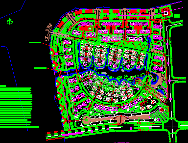 别墅区规划设计图纸免费下载