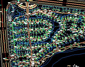 别墅建筑规划总平面图