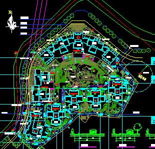 某小区建筑规划总平面图