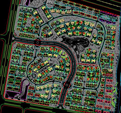 某别墅规划总平面图免费下载 - 建筑规划图 - 土木