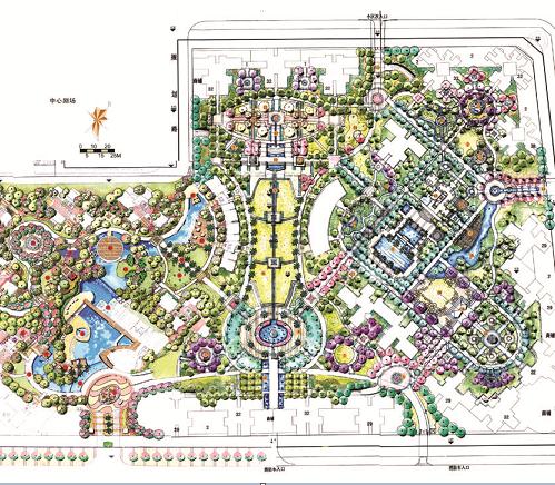 某住宅小区规划手绘图