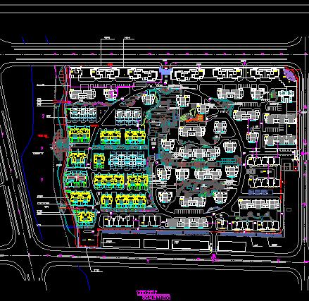 某大型居住小区总平面布置示意图免费下载 建筑规划图图片
