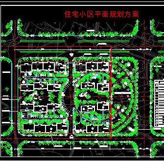 某小型多层花园住宅小区规划平面图