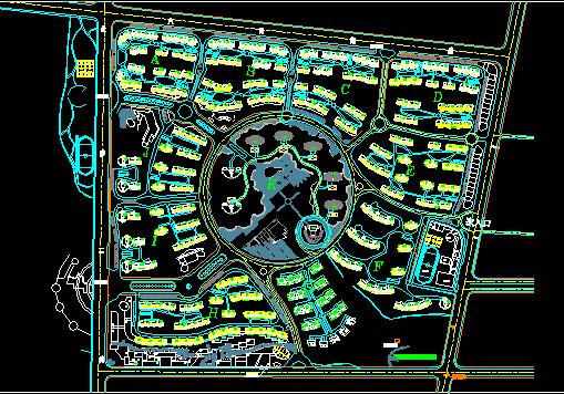 某小区建筑规划设计总图