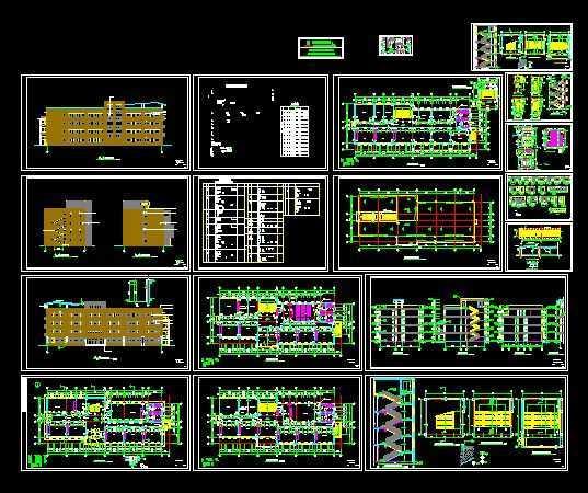 小学教学楼设计施工图全套免费下载 - 工业、农业 ...