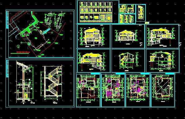 别墅施工图纸免费下载 - 工业,农业建筑 - 土木工程网