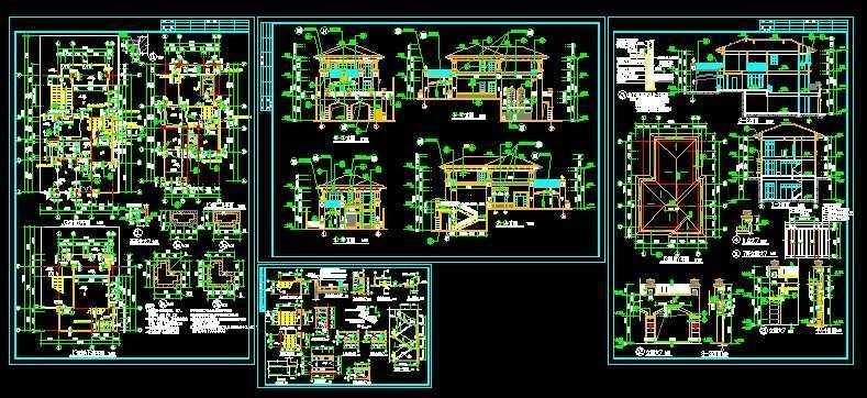 别墅建筑施工图免费下载 - 工业,农业建筑 - 土木工程