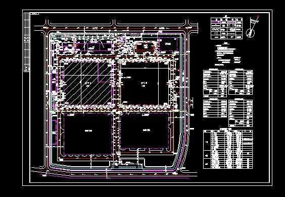 东芝电梯厂房建筑图全套