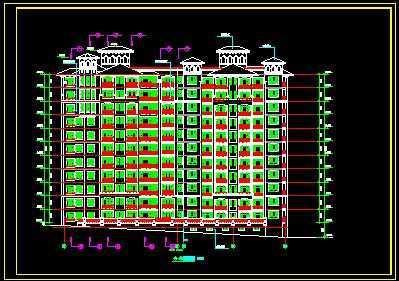 高层住宅立面图 高清图片