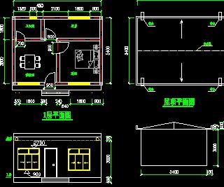 一室一厅住宅房建筑设计图免费下载