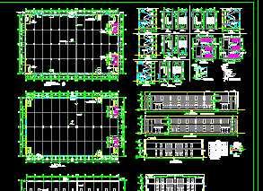 某二层厂房车间建筑施工图